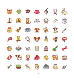 icons pet shop vector image