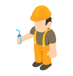 Installation specialist icon isometric style vector