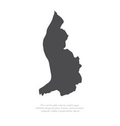 map liechtenstein isolated vector image