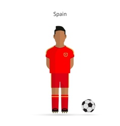 National football player Spain soccer team uniform vector image