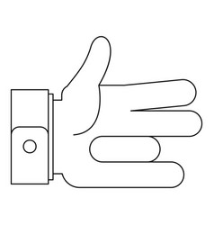 one finger icon outline style vector image
