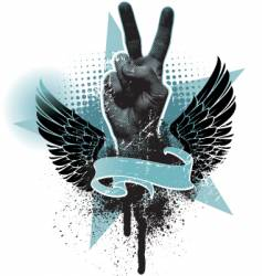 Peace hand sign vector