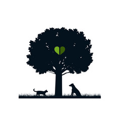 Pets in nature vector