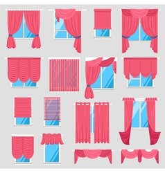 Red Curtains Set vector