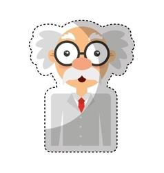 Scientific comic character icon vector