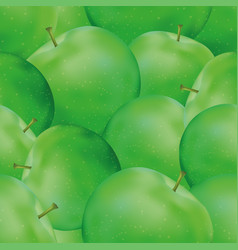 Seamless background apples vector