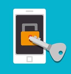 Security digital design vector image