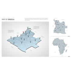 Set angola country isometric 3d map angola map vector