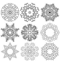 set circle 1color 6 380 vector image