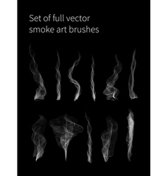 Set of full smoke brushes vector image