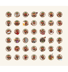 Set of tanuki character vector image