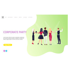 teamwork people celebrating corporate party vector image