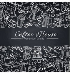 Template coffee shop page design vector
