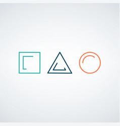 Template of simple linear geometrical logo vector