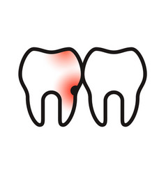 toothache icon vector image
