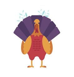 Turkey bird flat isolated vector
