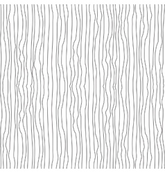 Vertical wavy thin uneven lines seamless pattern vector