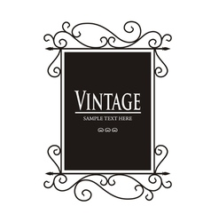 Vintage lamp sign vector