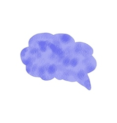 Watercolor speech bubble hand drawn vector