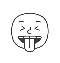 wicked smile fase black and white emoji eps 10 vector image
