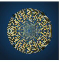 yoga ornamental gold emblems biljna arabeska and vector image