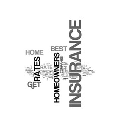 best homeowners insurance rates how can you get vector image vector image