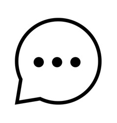 chat icon in speech bubble - iconic design vector image vector image