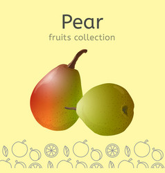 pear image vector image