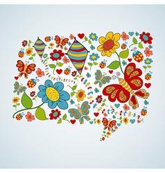 Spring social media chat bubble talk vector image vector image