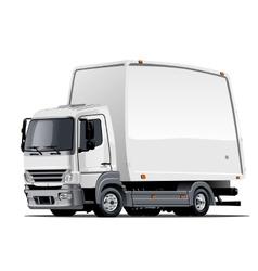 Cartoon delivery or cargo truck vector image vector image