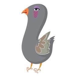 cartoon pigeon vector image vector image