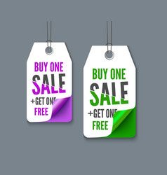 label tags set - buy one get fre vector image