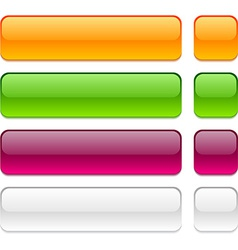 Rectangle buttons on white background vector image