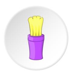 Shaving brush icon cartoon style vector image vector image