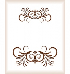 vintage template vector image vector image