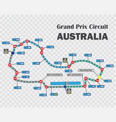 australian grand prix race track detailed vector image vector image
