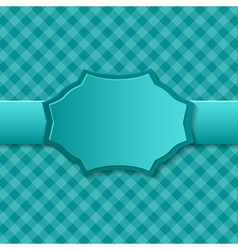 Blue paper background with badge in the center vector image