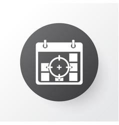 Business goals icon symbol premium quality vector