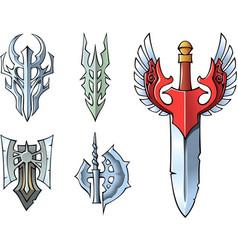 Fantasy sword set vector