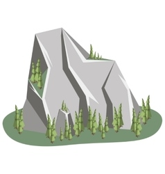 Isometric Mountain landscape vector image