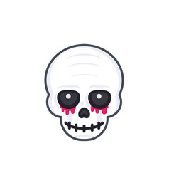 scary skull on white vector image vector image