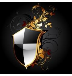 web icon shield vector image vector image