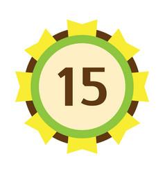 birthday badge fifteenth banner design flat vector image vector image