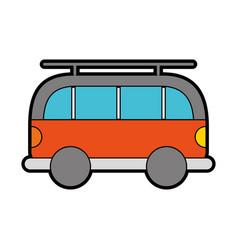 cute orange car cartoon vector image