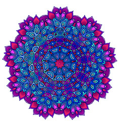 detailed ornamental mandala ona in a purple and vector image