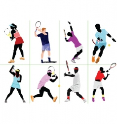 eight tennis vector image vector image