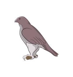 Falcon icon cartoon style vector