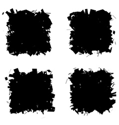 fragmented black silhouette collection frames vector image vector image