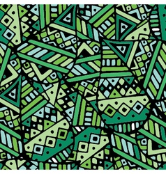 Green ethnic mexican leaf seamless pattern pr vector image vector image