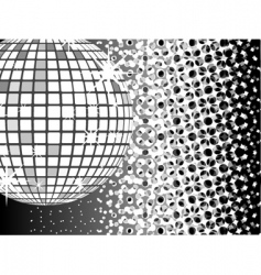 mirror ball disco vector image vector image
